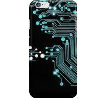 Cyan and Black Circuit iPhone Case/Skin