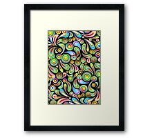 Abstract Colorful Drops Framed Print