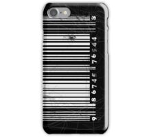 BW bar code iPhone Case/Skin