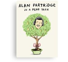 Alan Partridge in a Pear Tree Canvas Print
