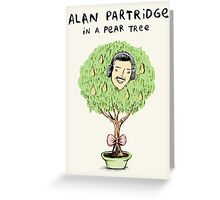 Alan Partridge in a Pear Tree Greeting Card