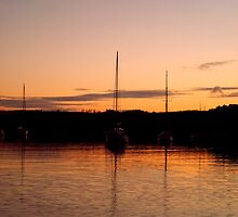 Sunset Boat by WillBov
