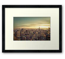 New York City - Skyline Cityscape Framed Print