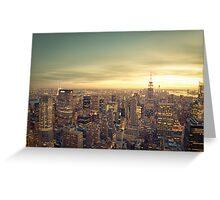 New York City - Skyline Cityscape Greeting Card
