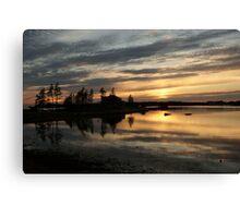 Mirrored calm Canvas Print
