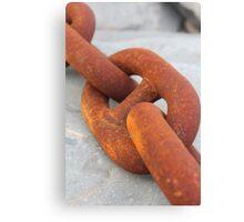 Rusty chain Canvas Print