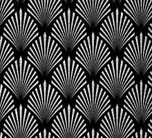 Silver glitter art deco pattern by dairinne
