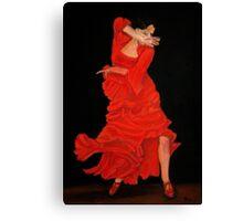 Flamenco fire Canvas Print