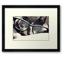 Peeking Framed Print