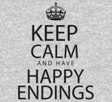 Keep calm and have happy endings One Piece - Short Sleeve
