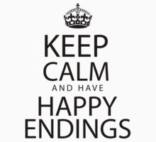 Keep calm and have happy endings Baby Tee