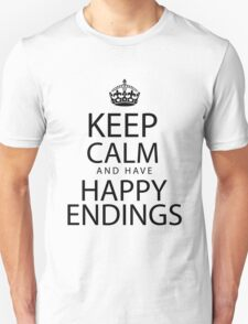Keep calm and have happy endings T-Shirt