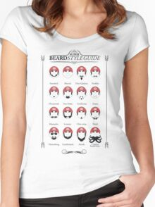 Super Mario - Beard Style Guide Women's Fitted Scoop T-Shirt