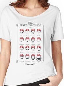 Super Mario - Beard Style Guide Women's Relaxed Fit T-Shirt