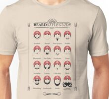 Super Mario - Beard Style Guide Unisex T-Shirt