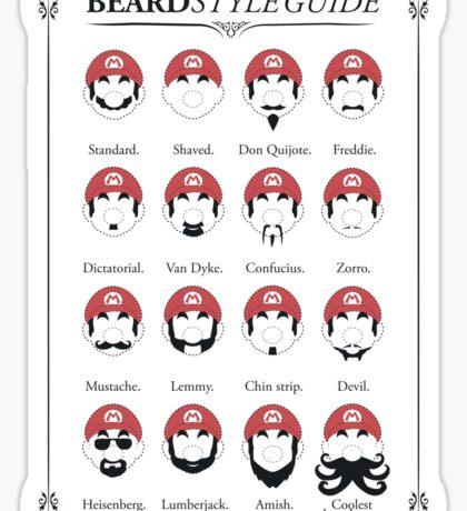 Super Mario - Beard Style Guide Sticker