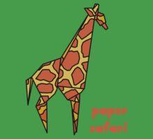 Paper Safari (giraffe) One Piece - Short Sleeve