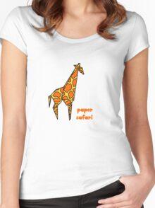 Paper Safari (giraffe) Women's Fitted Scoop T-Shirt