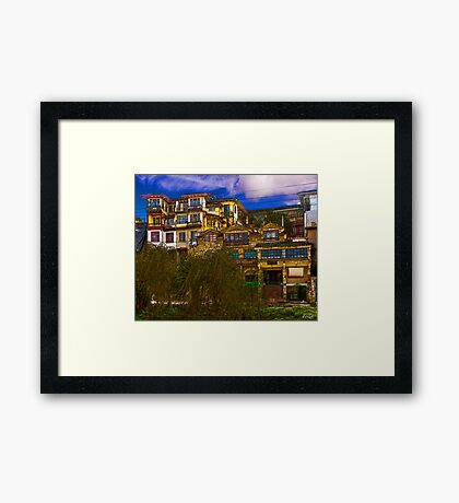 Hanging Houses of Cuenca Framed Print