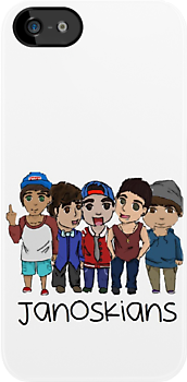 Janoskians Cartoon iPhone/iPod Case by dream--catch3r