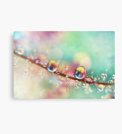 Rainbow Smoke Drops Canvas Print