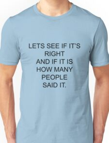 Let's see if it's right....Pointless T-Shirt