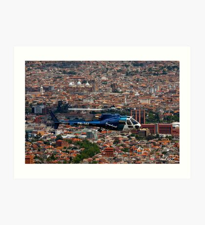 Helicopter Over Cuenca Art Print