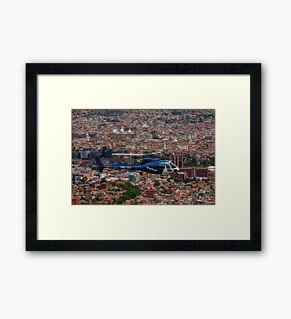 Helicopter Over Cuenca Framed Print