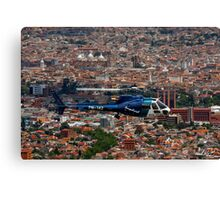 Helicopter Over Cuenca Canvas Print