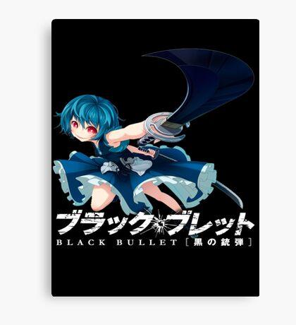 Black Bullet Hiruko Canvas Print