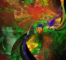 Fractal - Peacock by Susan Savad