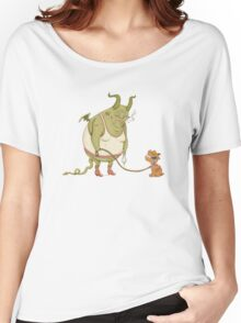 A demon and his dog... Women's Relaxed Fit T-Shirt