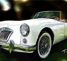 1956 MGA  by Tom  Sachse