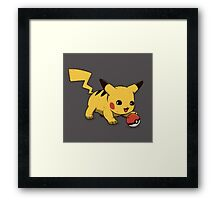 Cute Pikachu Framed Print