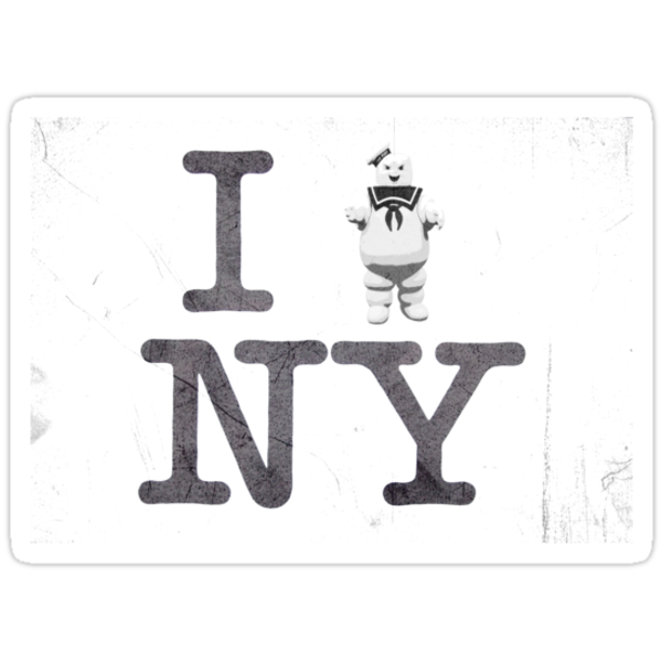 I ATTACK NY (STAY PUFT STYLE) by GraphicMonkey