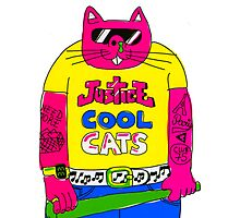 Cool Cats - Yellow / Justice Cat Photographic Print