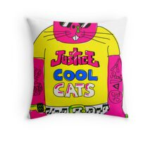 Cool Cats - Yellow / Justice Cat Throw Pillow