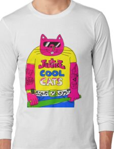 Cool Cats - Yellow / Justice Cat Long Sleeve T-Shirt