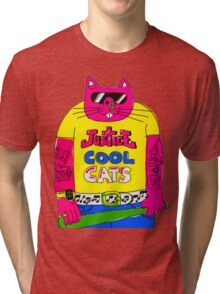 Cool Cats - Yellow / Justice Cat Tri-blend T-Shirt