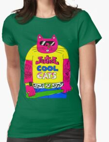 Cool Cats - Yellow / Justice Cat Womens Fitted T-Shirt