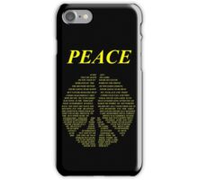 Peace - Happy People Lyrics iPhone Case/Skin