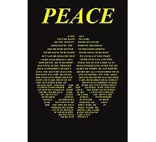 Peace - Happy People Lyrics Photographic Print