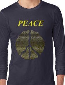 Peace - Happy People Lyrics Long Sleeve T-Shirt