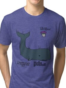 Hello Ground! - Hitchhiker's Guide To The Galaxy Tri-blend T-Shirt