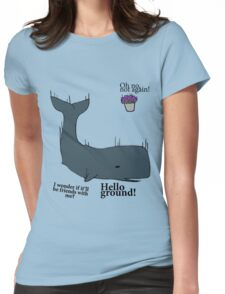 Hello Ground! - Hitchhiker's Guide To The Galaxy Womens Fitted T-Shirt