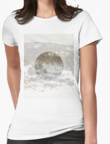 Snowing Forest Womens Fitted T-Shirt
