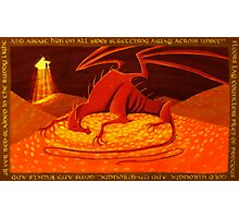 Smaug - My Armour is Like Ten Thousand Shields Photographic Print
