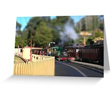 Puffing Billy - tilt shifted Greeting Card