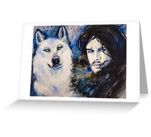 Game of Thrones-  Jon Snow Greeting Card