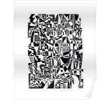 Black & white dada retro Poster